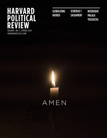 8f981f3cc51 Spring 2019: Amen by The Harvard Political Review - issuu