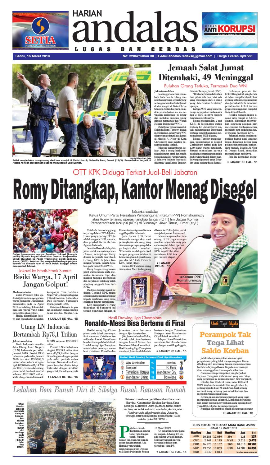 Epaper Harian Andalas 16 Maret 2019 By Media Andalas Issuu