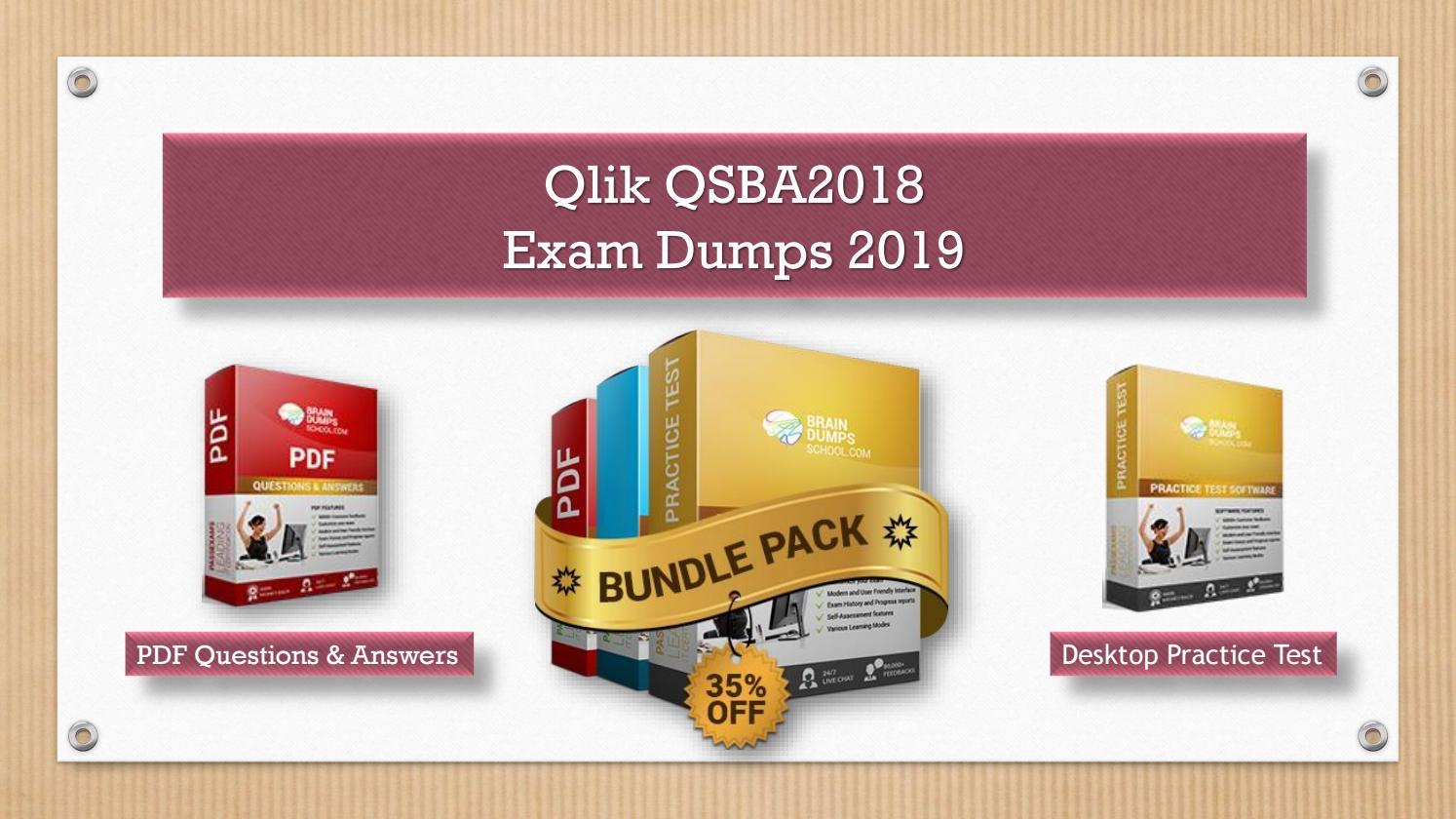 Pass QSBA2018 Exam with New Qlik QSBA2018 Dumps by Levi