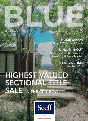 Page 1 of Seeff BLUE Issue 6 for Autumn 2019