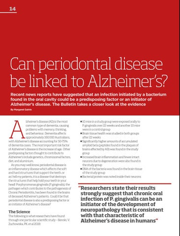 Page 14 of Periodontal Disease & Alzheimer's