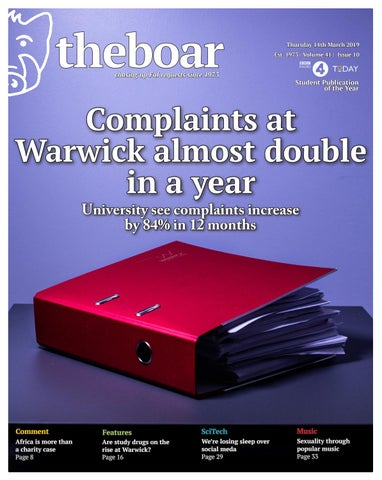 Issue 10 Volume 41 - 14th March 2019 by The Boar - issuu