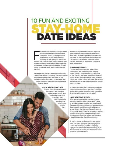 Page 4 of 10 Stay-Home Date Ideas