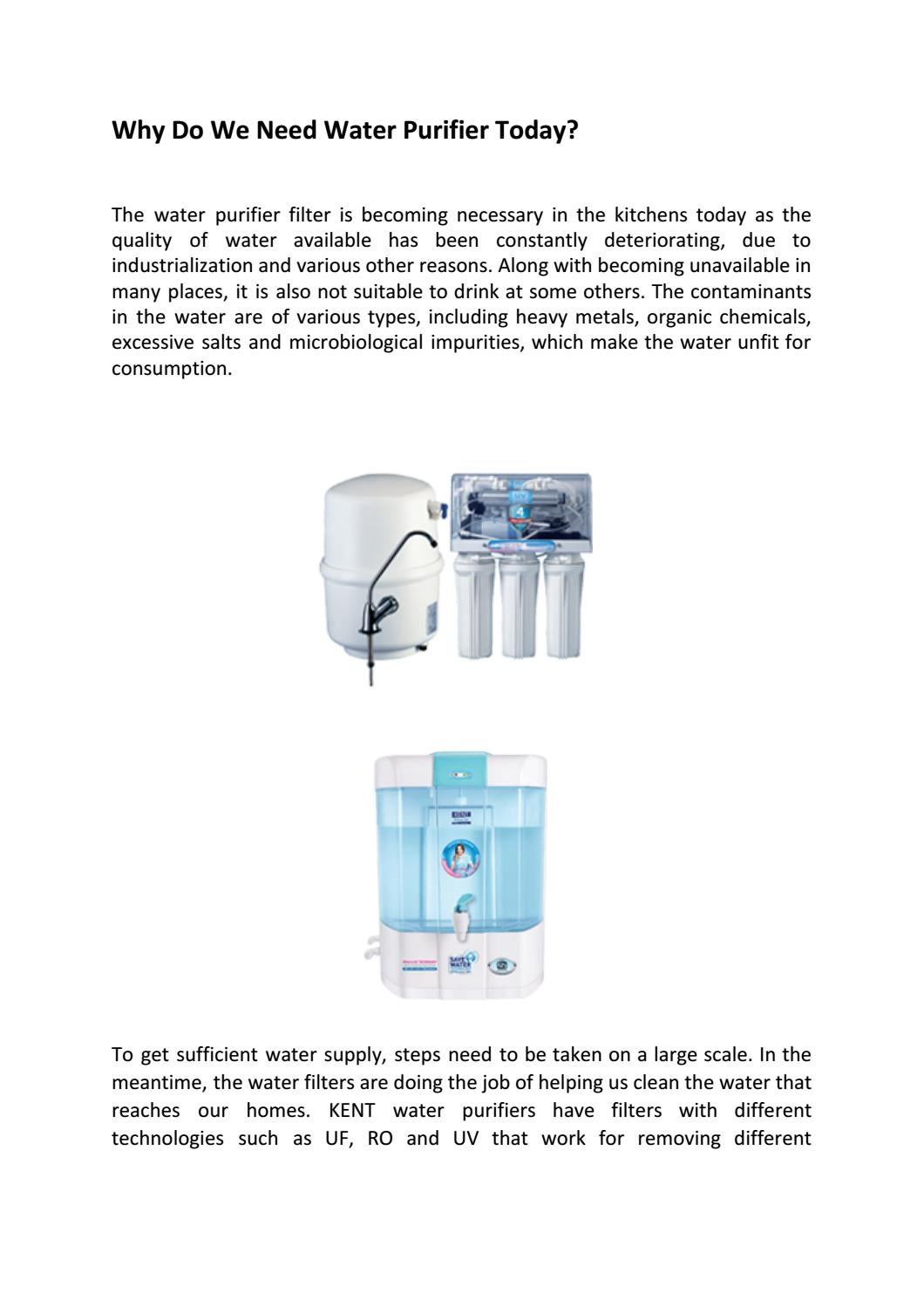 Why Do We Need Water Purifier Today by Shivangi - issuu