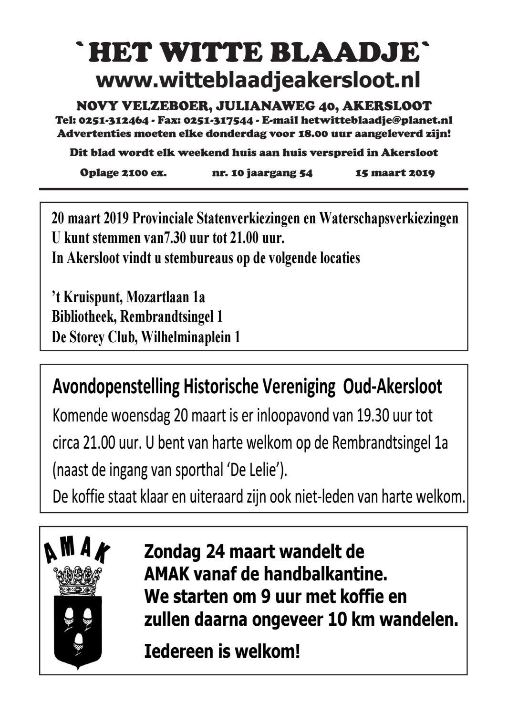 275e616970c Het Witte Blaadje 15 maart 2019 by Het Witte Blaadje - issuu