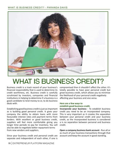 Page 13 of What Is Business Credit?