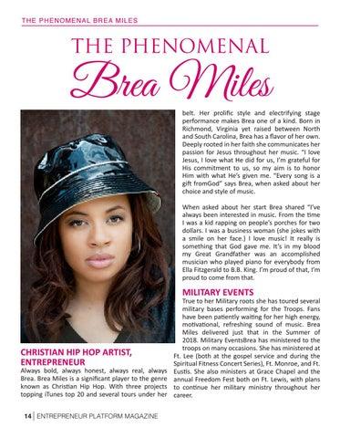 Page 16 of Christian Hip-Hop Artist Entrepreneur