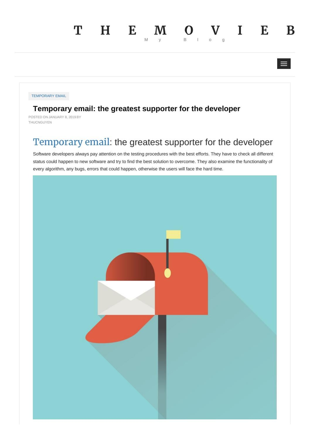 Temporary email: the greatest supporter for the developer by