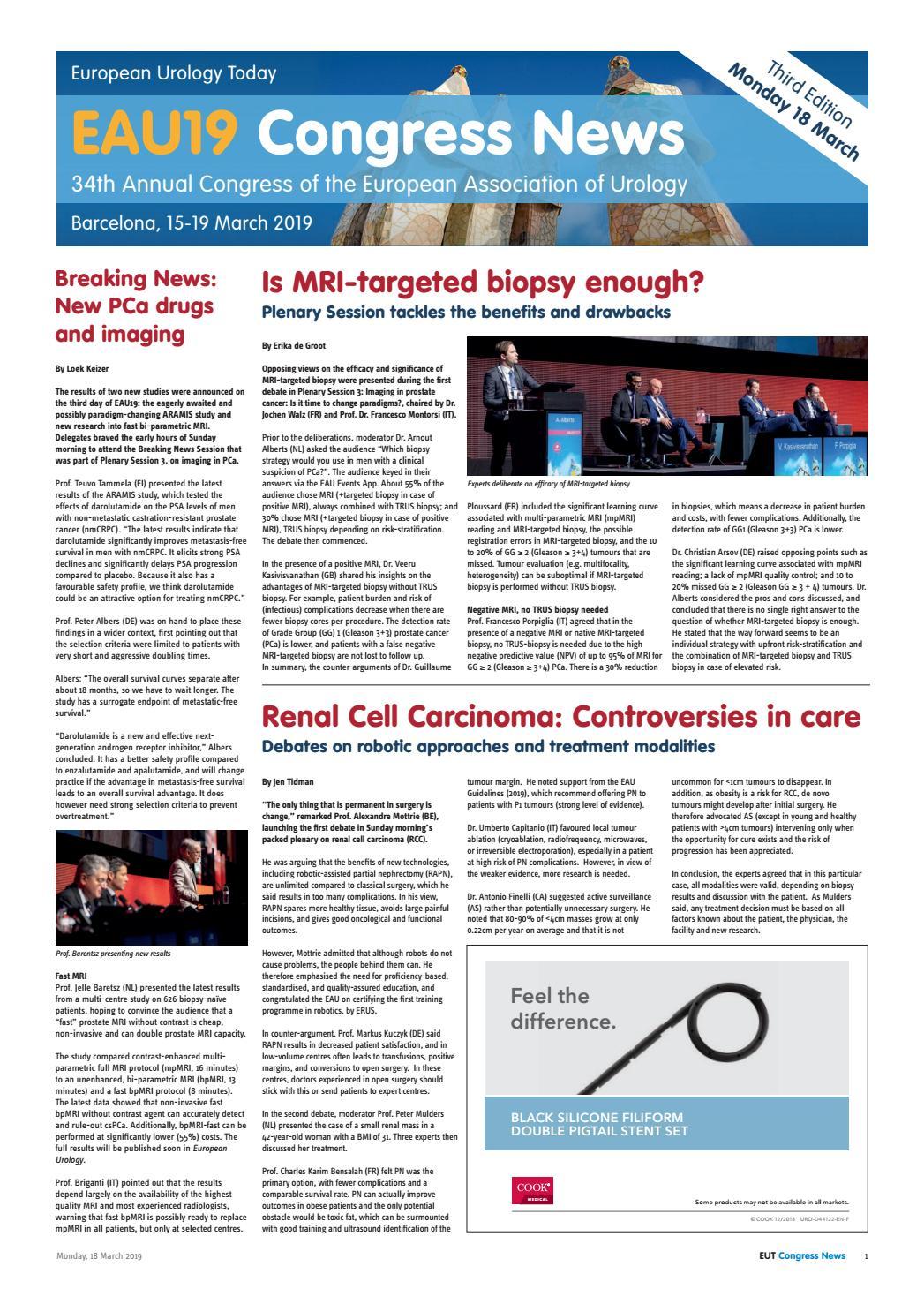 EUT Congress News - Monday 18 March by European Association