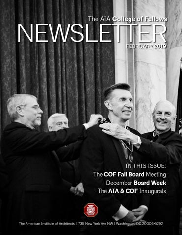 AIA College of Fellows Newsletter Feb 2019 by AIA College of