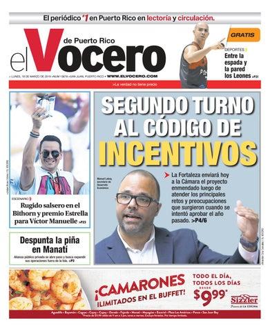 70acce1a7c Edición  18 de marzo de 2019 by El Vocero de Puerto Rico - issuu