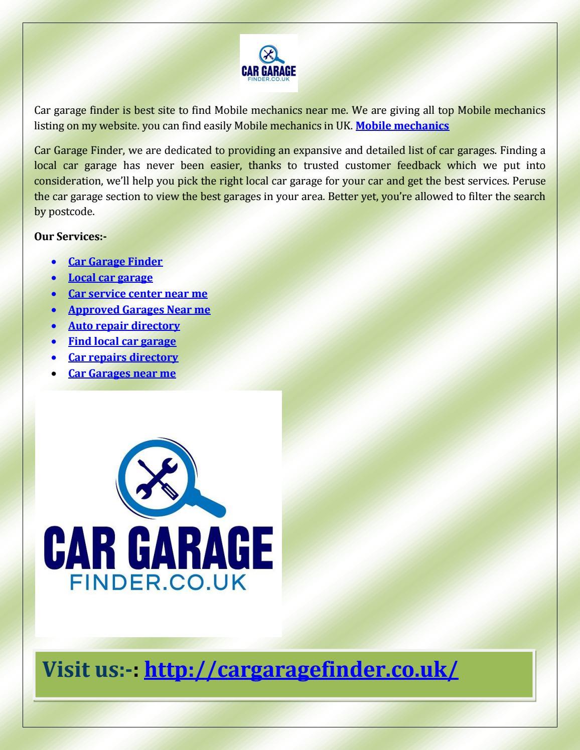 Local Mechanics Near Me >> Car Garages By Peter Handscomb Issuu