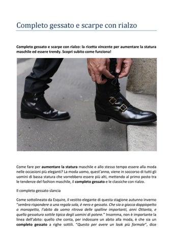 Completo gessato e scarpe con rialzo Guido Maggi by Guido