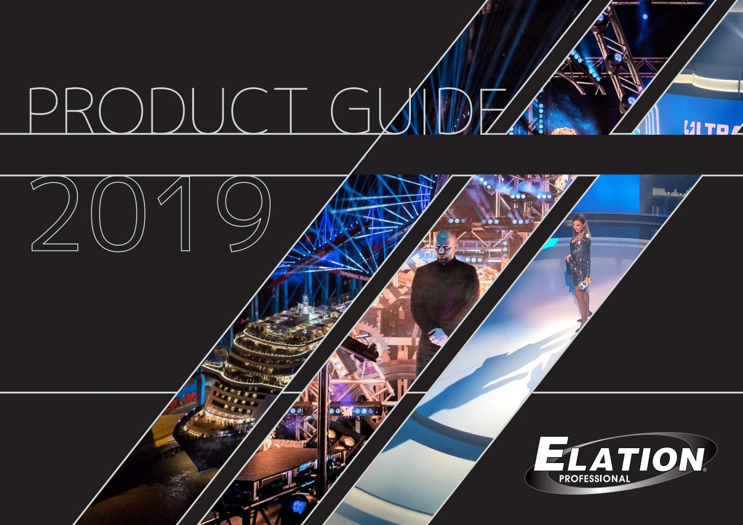 Elation Professional Product Guide 2019 By A D J Group Issuu
