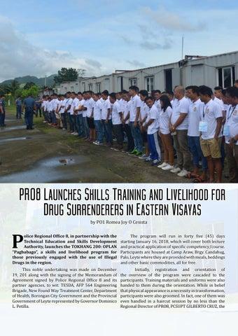 Page 8 of for Drug Surrenderers in Eastern Visayas