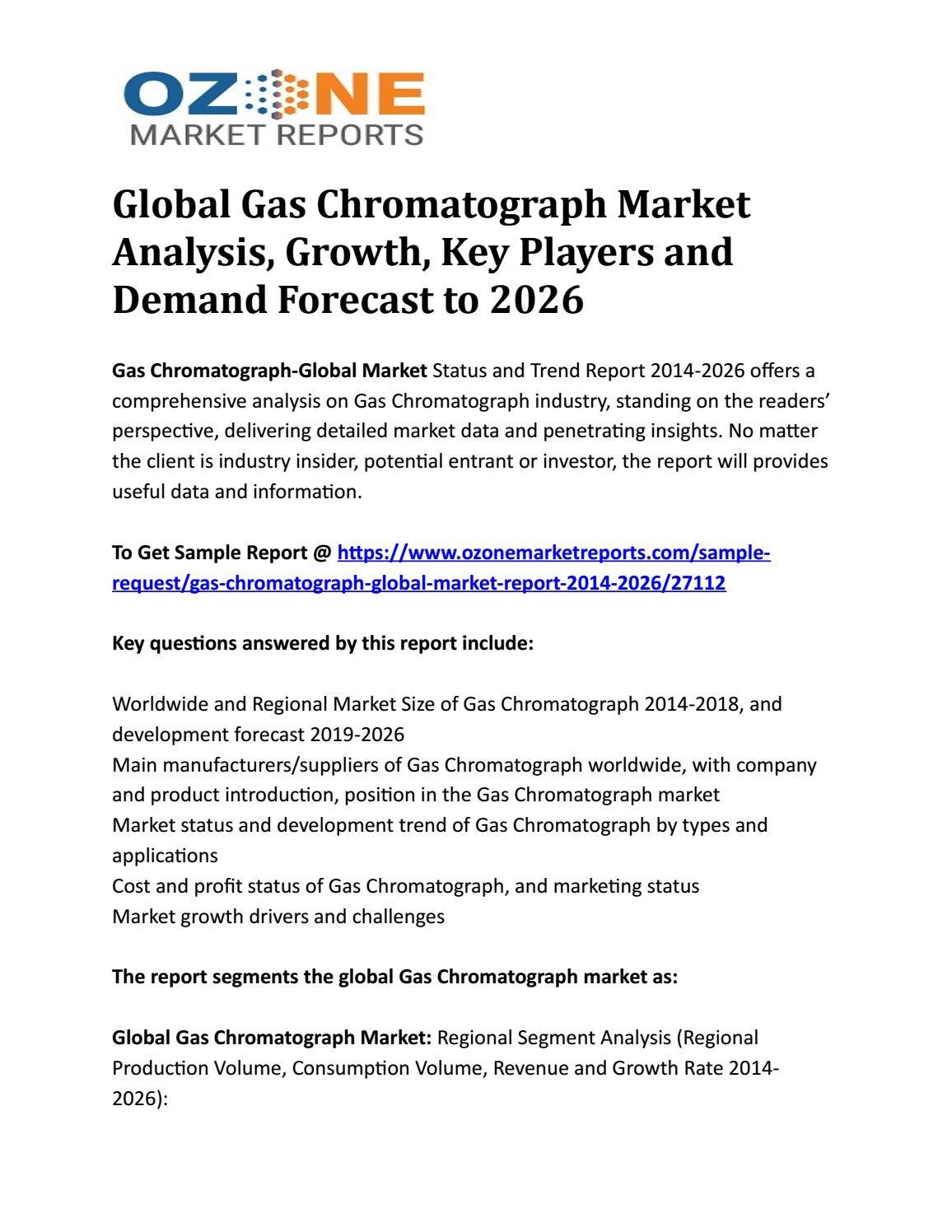 Global Gas Chromatograph Market Analysis, Growth, Key