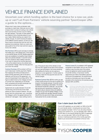 Page 21 of VEHICLE FINANCE EXPLAINED