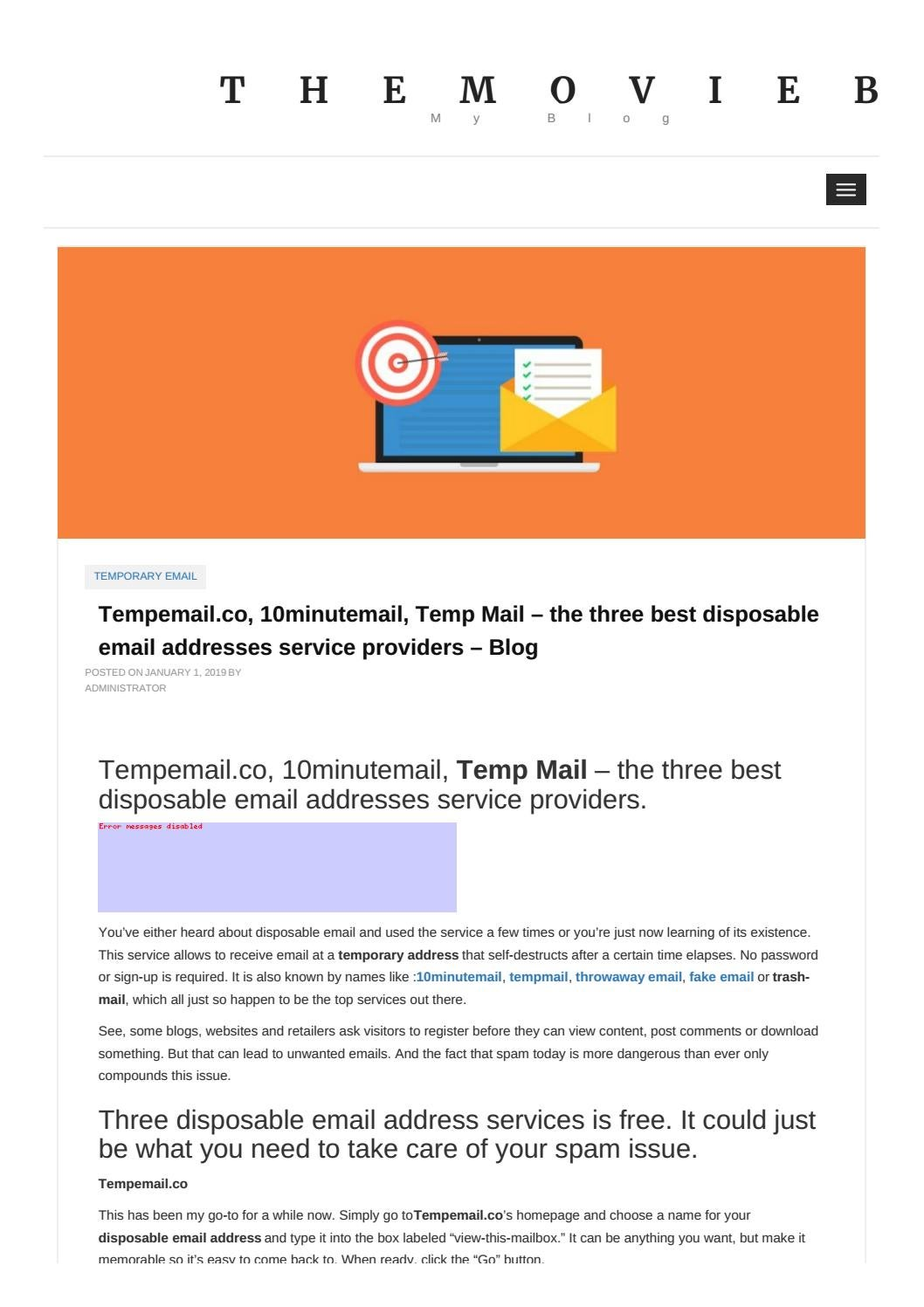 Tempemail co, 10minutemail, Temp Mail – the three best