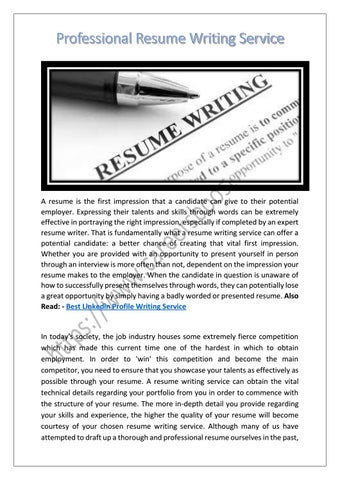 Professional Resume Writing Service By Careersboosters Issuu