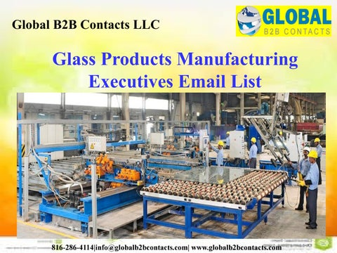 Glass Products Manufacturing Executives Email List by Shreey Ellen
