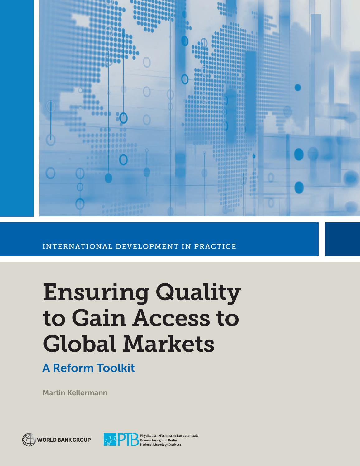 Ensuring Quality to Gain Access to Global Markets by World