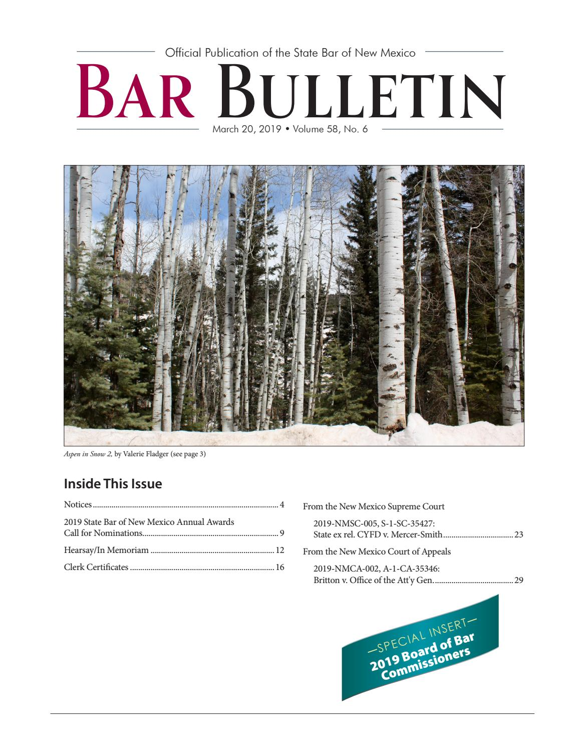 BB-2019-03-20 by State Bar of New Mexico - issuu