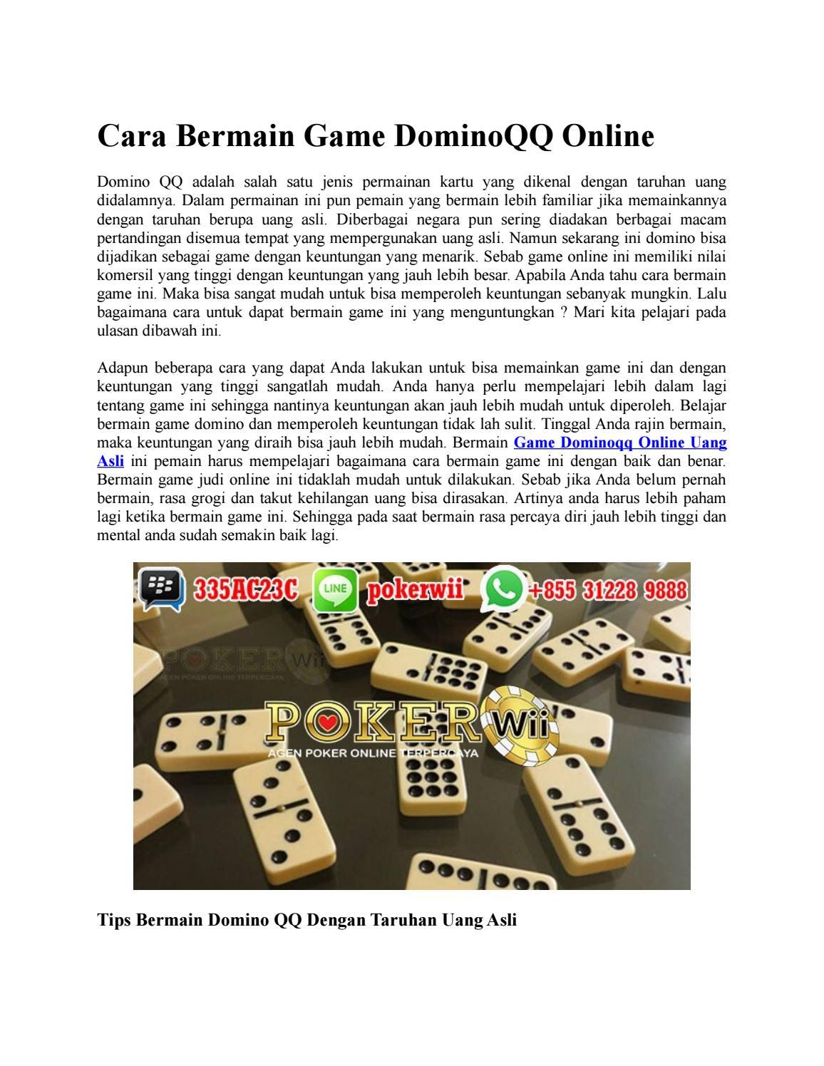 Cara Bermain Game Dominoqq Online By Thalita Oktavia Issuu