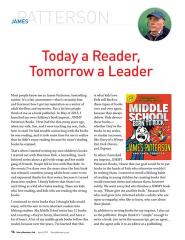 Page 16 of James Patterson: Today a Reader, Tomorrow a Leader