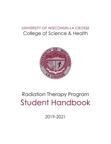 University of Wisconsin‐La Crosse Radiation Therapy Program