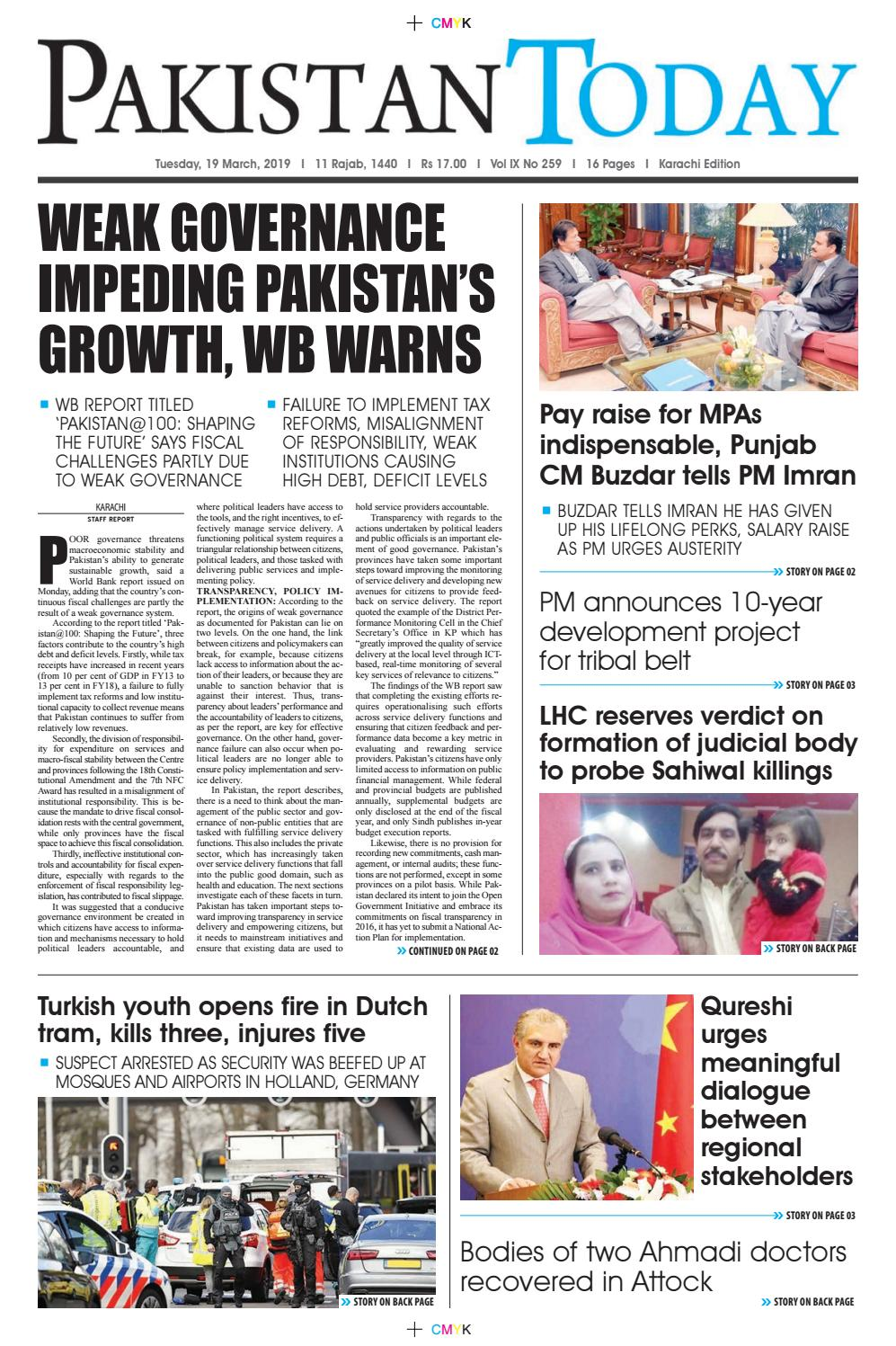 E-Paper PDF 19 March (KHI) by Pakistan Today - issuu