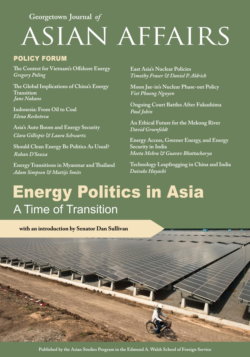 georgetown journal of asian affairs winter by school of