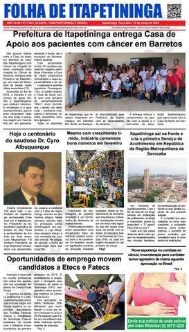 Folha de Itapetininga 19/03/2019 (Terca-feira)