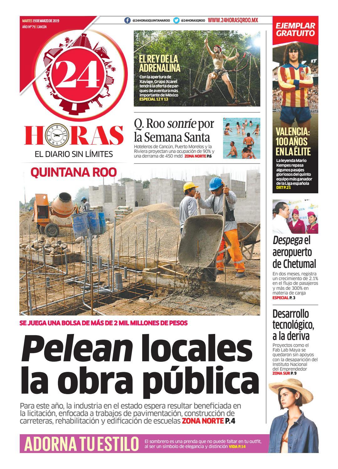 b81dfd60c5c8 24 Horas Quintana Roo  19 de marzo 2019 by 24 Horas Quintana Roo - issuu