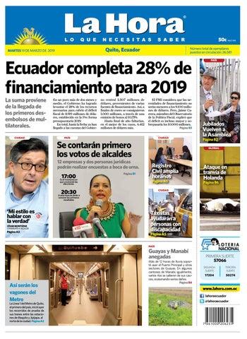 Quito 19 de marzo de 2019 by Diario La Hora Ecuador - issuu