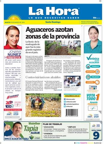 6862b248101 Santo Domingo 19 de marzo de 2019 by Diario La Hora Ecuador - issuu