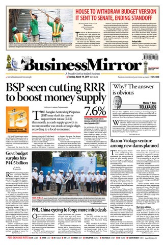 6f2b734d2 BusinessMirror March 19, 2019 by BusinessMirror - issuu
