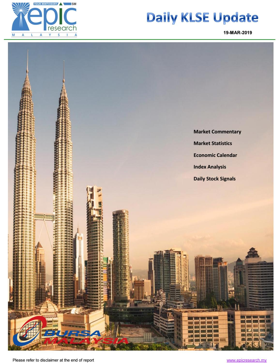 Epic Research Malaysia Daily Klse Report 19 March 2019 By