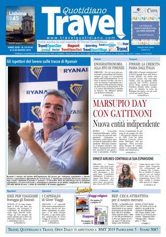 14bee4250677 Quotidiano www.travelquotidiano.com ANNO XXXI - N. 14-15-16 8-13-20 MARZO  2019. GIORNALE DI ...