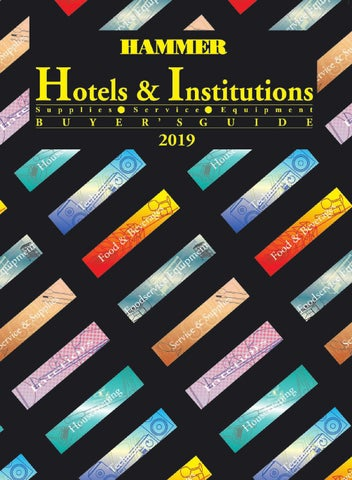 Annual Hotels & Institutions Buyers Guide 2019 by HAMMER by