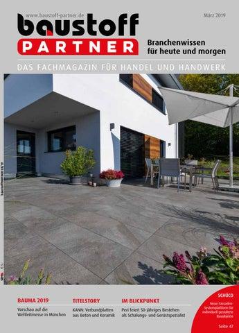 Baustoffpartner März 2019 By Sbm Verlag Gmbh Issuu
