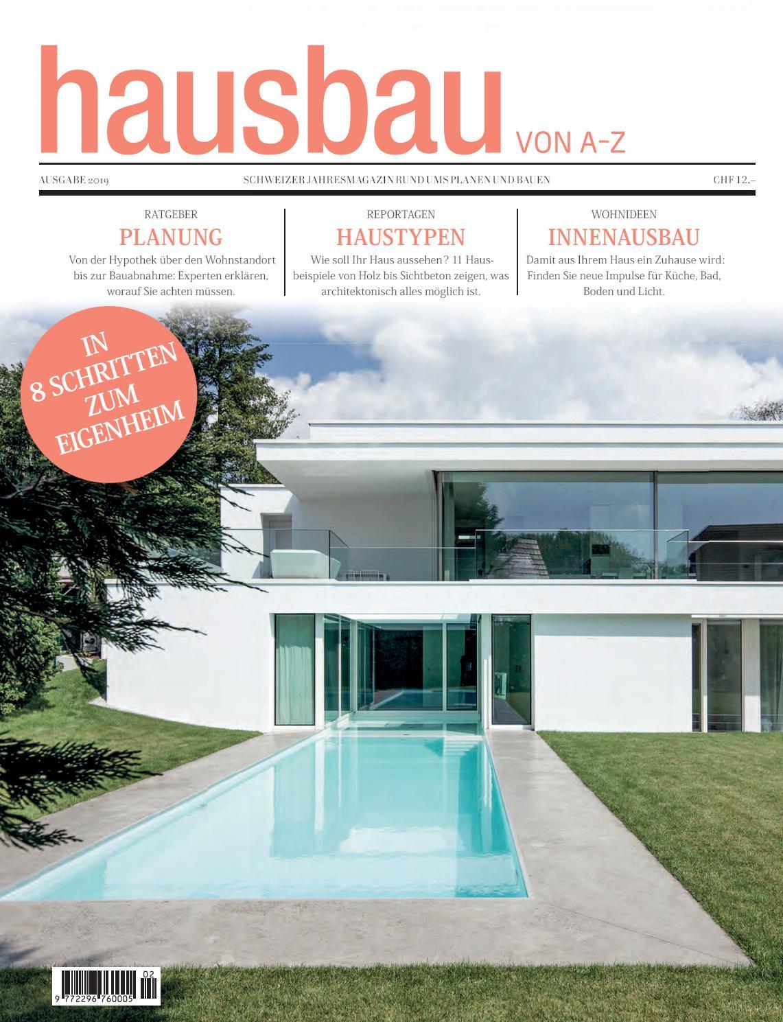 Hausbau Von A Z 2019 By Bl Verlag Ag Issuu
