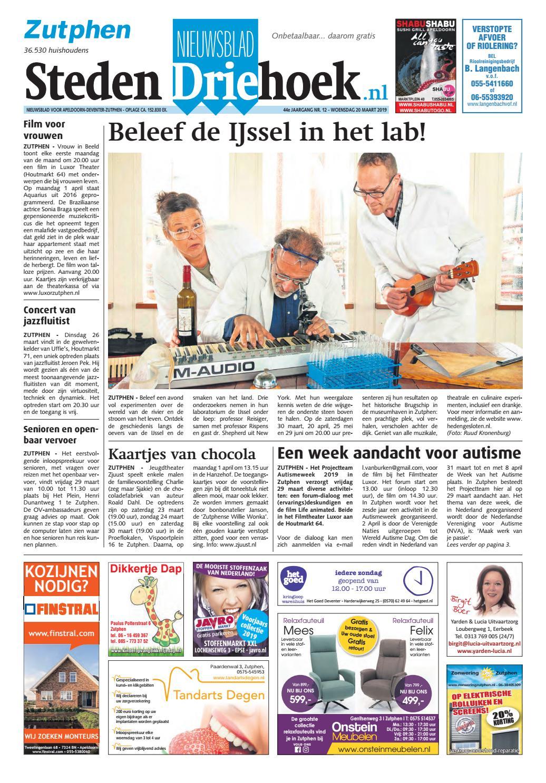 584bef71b7389e Nieuwsblad Stedendriehoek Zutphen wk12-2019 by Uitgeverij Stedendriehoek -  issuu