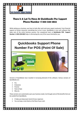 There Is A Lot To Have At Quickbooks Pos Support Phone