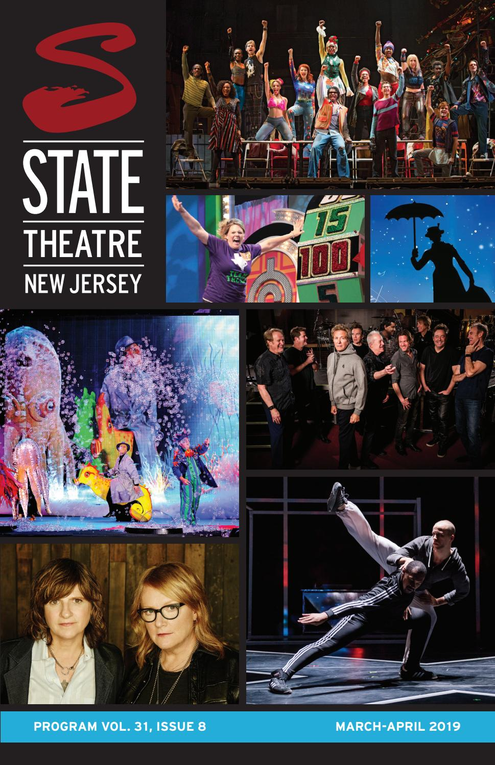 State Theatre New Jersey Program Vol  31, Issue 8 by State Theatre
