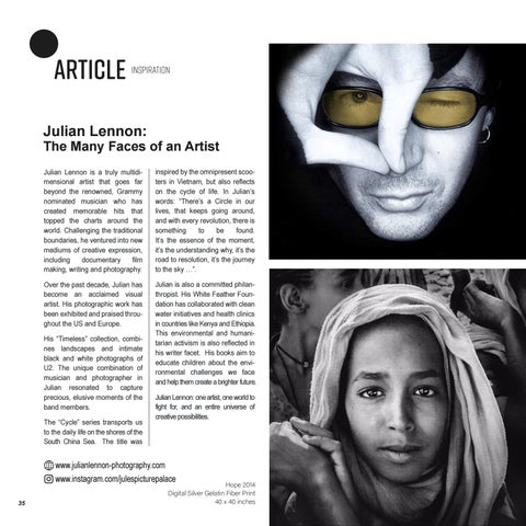 Page 36 of JULIAN LENNON: The Many Faces of an Artist