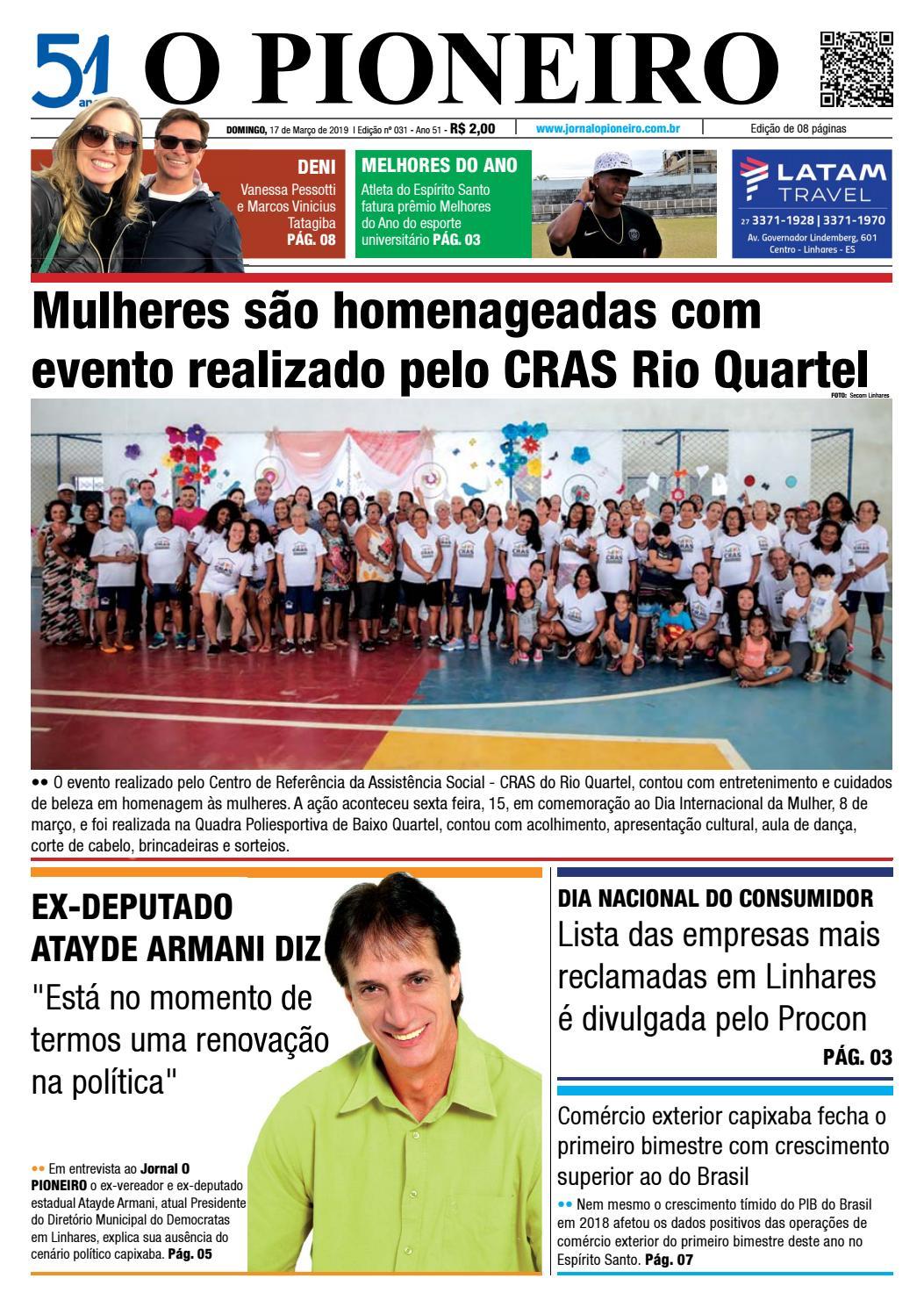 4c8e9f85c O PIONEIRO 17 DE MARÇO DE 2019 by Jornal O PIONEIRO - issuu