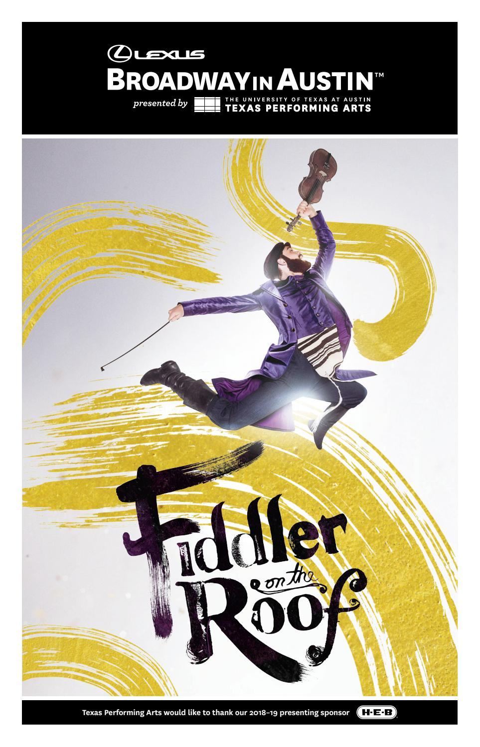 Fiddler on the Roof Program by Texas Performing Arts - issuu