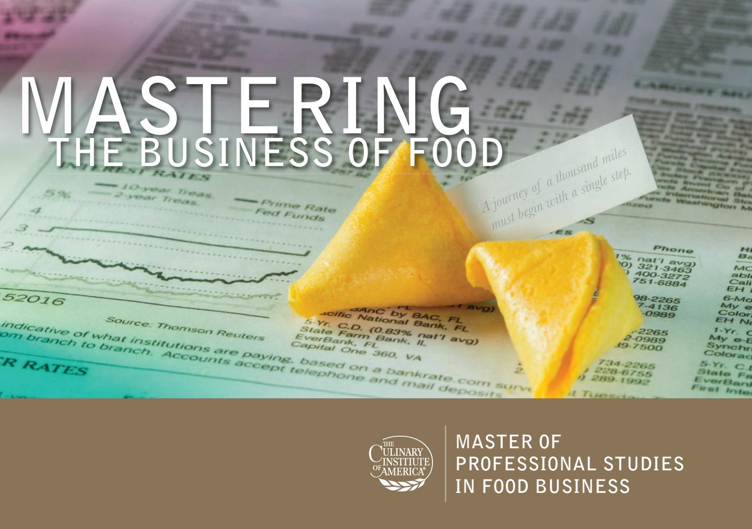 Master's in Professional Studies in Food Business by The Culinary