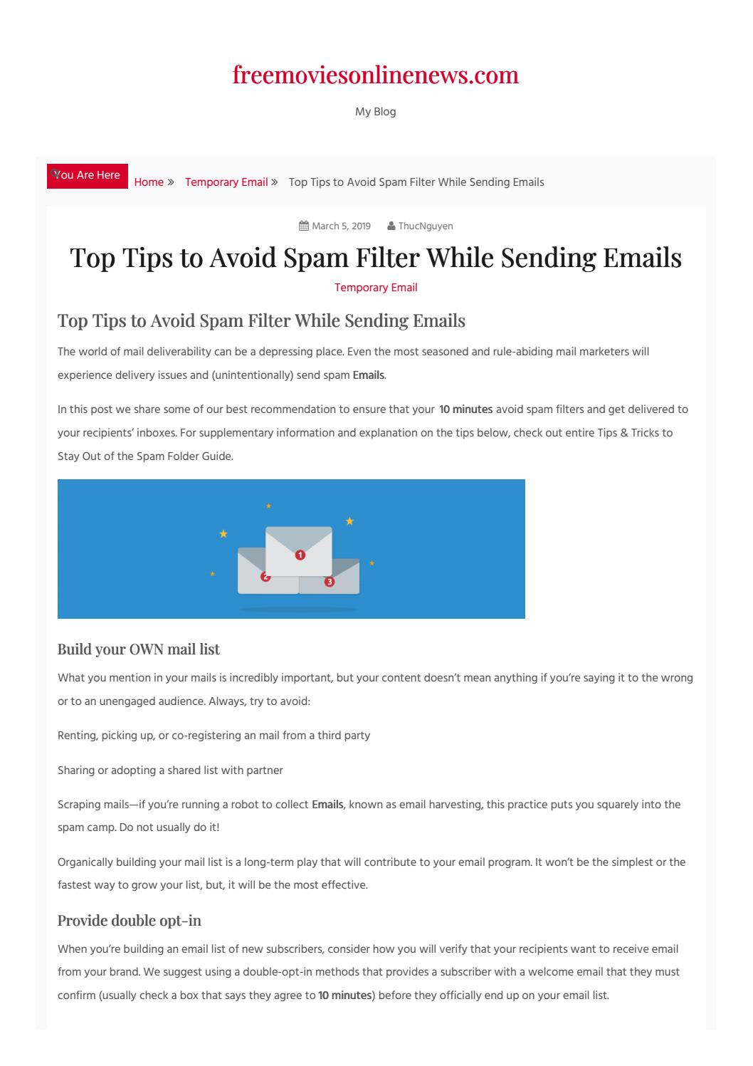 Top Tips to Avoid Spam Filter While Sending Emails by