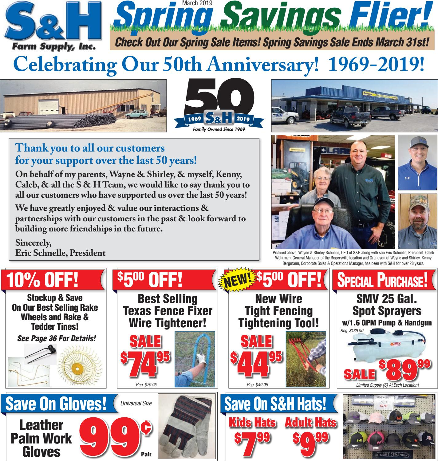 S&H Farm Supply Spring 2019 Sales Flyer by Eric Tietze - issuu